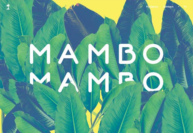 яркие сайты mambomambo картинка