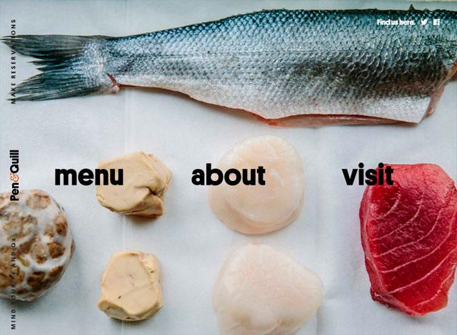 креативный сайт ресторана