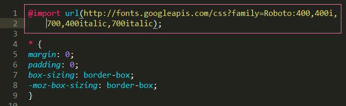 код в css файле