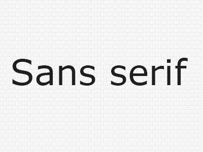 шрифты без засечек картинка