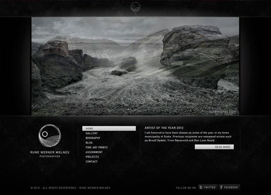 Сайт портфолио фотографа в темных тонах
