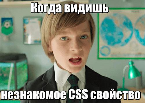 незнакомое CSS свойство